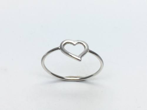 Silver Cut Out Heart Ring