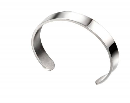 Stainless Steel Plain Cuff Bangle 65cm