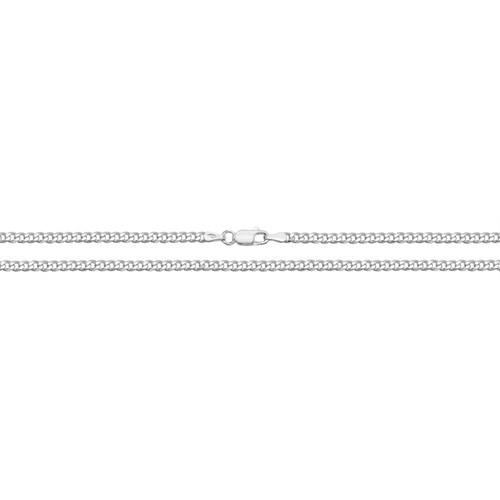 Silver Light Curb Anklet 10 Inch