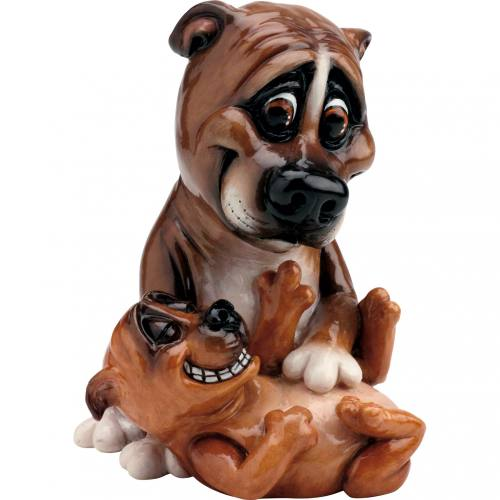 Pets With Personality Staffy & Pup Figurines 5510