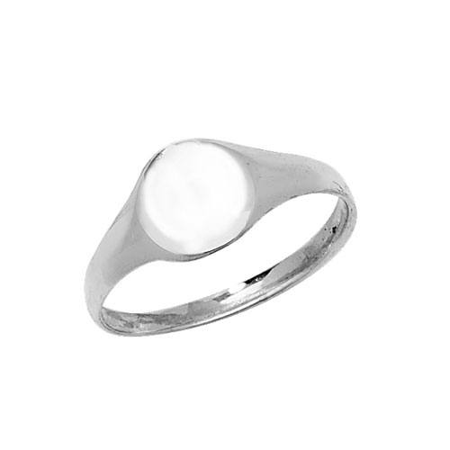 Silver Childs Oval Signet Ring