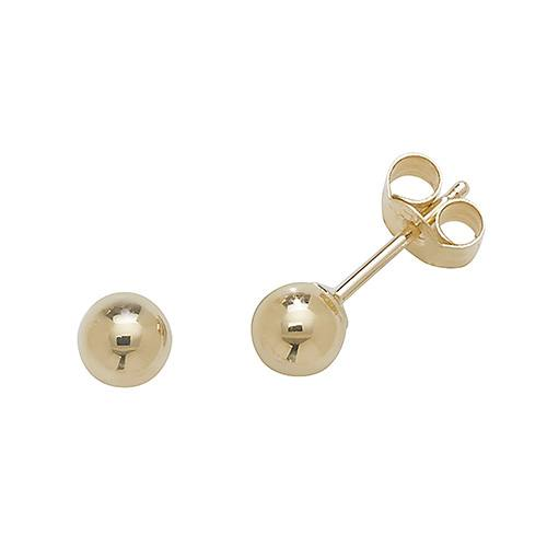 9ct Yellow Gold Ball Stud Earring 4mm