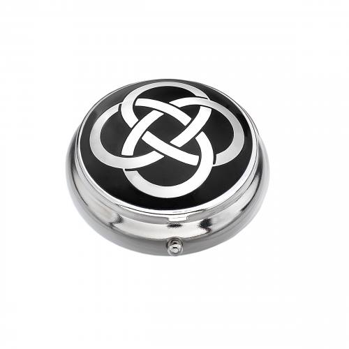Pillbox Celtic Knot Style Single Compartment