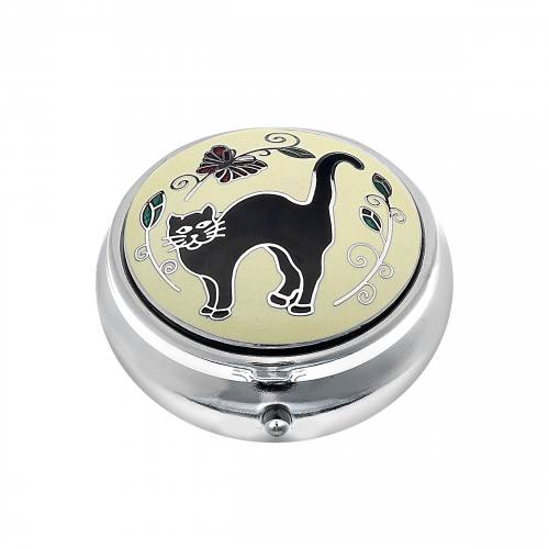 Pillbox Black Cat Single Compartment