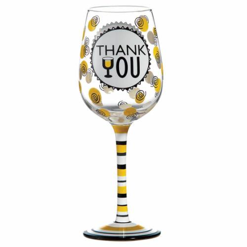 Thank You Wine Glass A27865