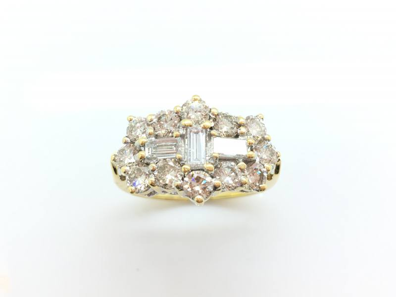 Secondhand 18ct Diamond Cluster Ring 2.00ct At Segalu0026#39;s Jewellers