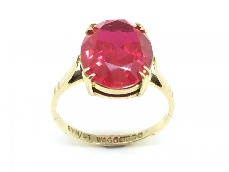 Secondhand 9ct Yellow Gold Stone Set Dress Ring At Segalu0026#39;s Jewellers