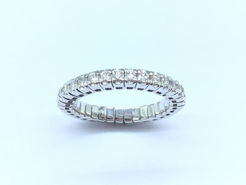 18ct White Gold Expandable Diamond Eternity Ring At Segal