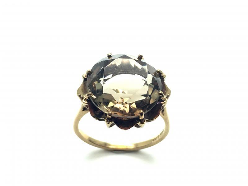 Secondhand 9ct Yellow Gold Smokey Quartz Ring At Segalu0026#39;s Jewellers